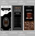 Coffee templates vector image vector image
