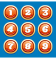 Collection of buttons vector image vector image