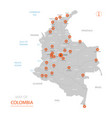 colombia map with administrative divisions vector image