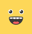 cute emoji smile funny face vector image