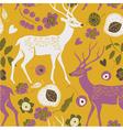 deer summer print vector image vector image
