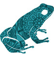 drawn ornamental doodle frog with vector image vector image