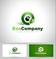 Eco Electricity Logo vector image vector image