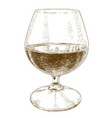 engraving glass with wine vector image
