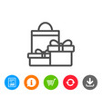 gift boxes line icon present sign vector image vector image