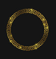 Golden round greek frame for design