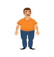 happy client caucasian or arabian man vector image vector image