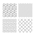 Hearts smile and circles grid textures vector image vector image