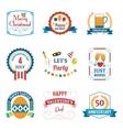 Holiday Celebration Emblems Set vector image