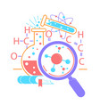 Icon science day vector image