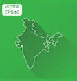 india linear map icon business cartography vector image vector image
