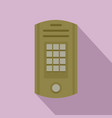 intercom icon flat style vector image vector image