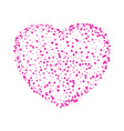 love heart from gentle flying pink and red hearts vector image vector image