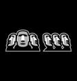 moai mascot design vector image vector image