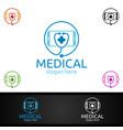 mobile cross medical hospital logo for emergency vector image vector image