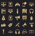 mobile development icons set simple style vector image vector image
