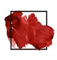 modern red banner stain smear paint vector image vector image