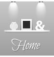Modern shelves in scandinavian interior style vector image vector image