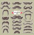 Moustaches set Design elements vector image