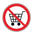 no cart sign vector image vector image