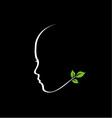 Organic Beauty logo vector image vector image