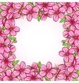 Peach blossom frame vector image