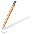 pencil with shadow vector image