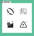 pictograph set 4 simple solid glyphs bangle