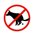 Prohibition sign paddock animals vector image vector image