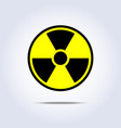radioactivity emblem danger power icon black vector image