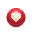 rubber ball with star isolated vector image vector image