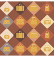 seamless background with woman bags vector image vector image