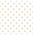 seamless gold abstract geometric floral pattern vector image