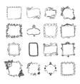 Set of hand drawn doodle frames vector image vector image