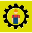 signal of worker isolated icon design vector image