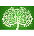 Silver Bodhi tree on a green background