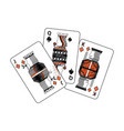 spades diamonds suits french playing cards related vector image vector image
