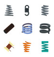 spiral cable icon set flat style vector image vector image