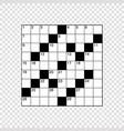 square empty crossword grid vector image