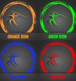 Summer sports Javelin throw icon Fashionable vector image vector image