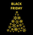 text black friday sale poster with shiny merry vector image vector image