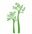 Tree silhouette isolated on white background vector image vector image