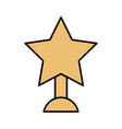 trophy in with star isolated icon vector image vector image