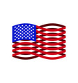 usa flag ribbon america national symbol vector image vector image