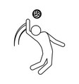 volleyball player pictograph vector image vector image
