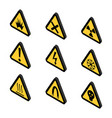 warning icons toxin and danger vector image vector image