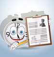 Watch smile shows resume worker vector image vector image