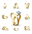 Wedding diamond ring vector image vector image