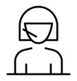 woman call center support icon outline style vector image vector image