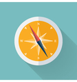Yellow Compass flat icon over mint vector image vector image